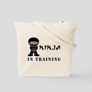 Dark Brown Eyes/Skin Ninja In Training Tote Bag