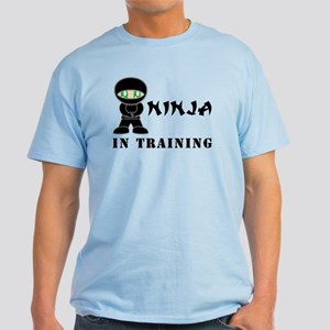 Green Eyes Ninja In Training Light T-Shirt