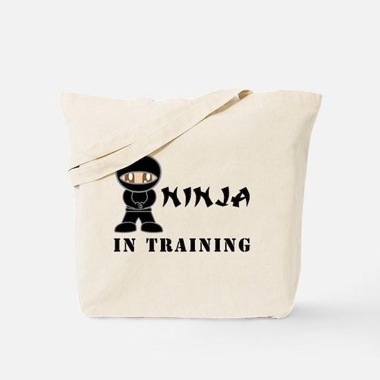 Brown Eyes Ninja In Training Tote Bag