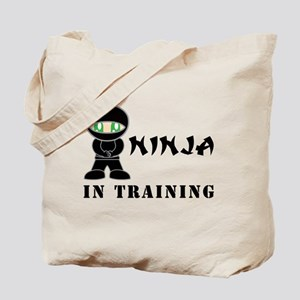 Green Eyes Ninja In Training Tote Bag