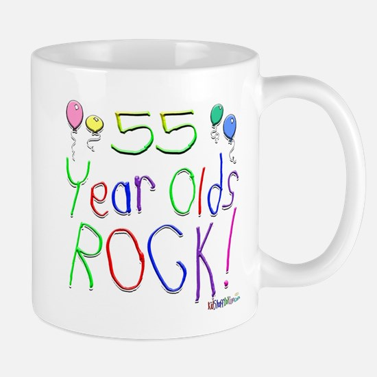 55 Year Olds Rock ! Mug