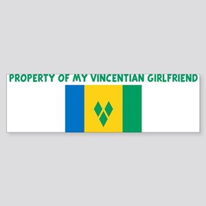 PROPERTY OF MY VINCENTIAN GIR Bumper Sticker