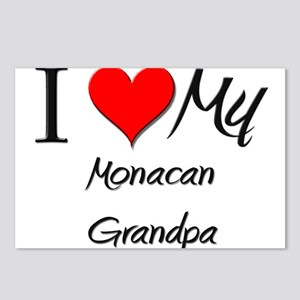 I Love My Monacan Grandpa Postcards (Package of 8)
