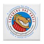 Laughing Dog Press Tile Coaster