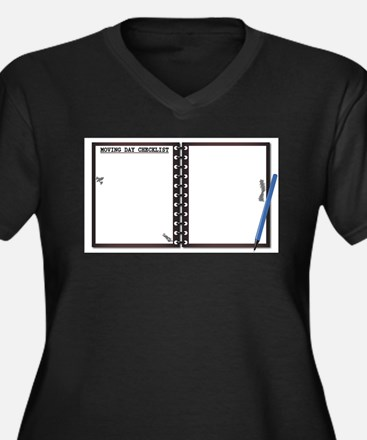 Moving Day Checklist Notepad Plus Size T-Shirt