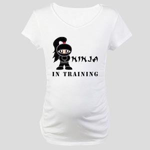 Girl Ninja In Training Maternity T-Shirt
