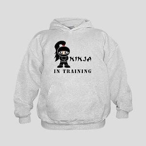 Girl Ninja In Training Kids Hoodie