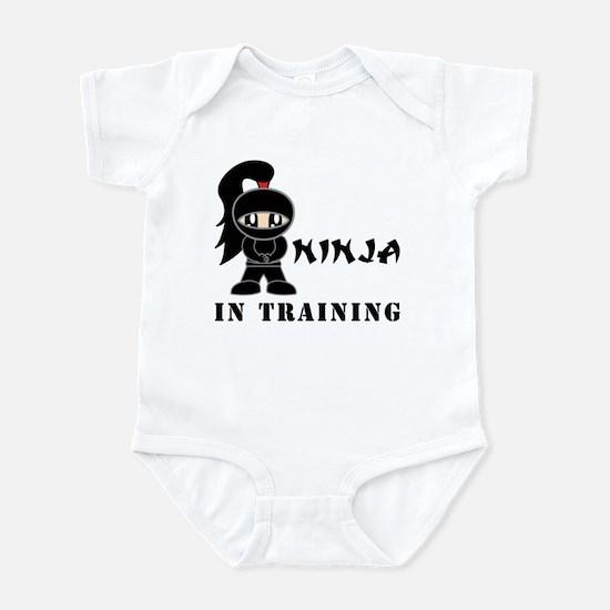 Girl Ninja In Training Infant Bodysuit