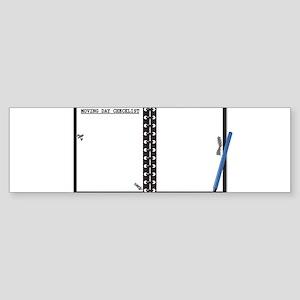 Moving Day Checklist Notepad Bumper Sticker