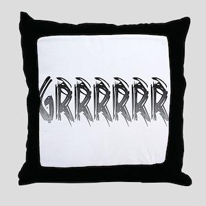 GRRRR2 Throw Pillow