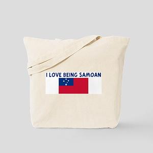 I LOVE BEING SAMOAN Tote Bag