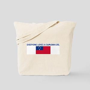 EVERYONE LOVES A SAMOAN GIRL Tote Bag