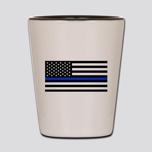 Thin Blue Line American Flag Shot Glass