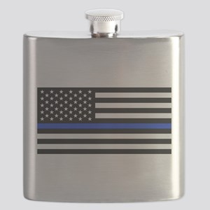 Thin Blue Line American Flag Flask