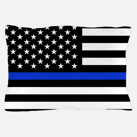 Thin Blue Line American Flag Pillow Case
