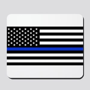Thin Blue Line American Flag Mousepad