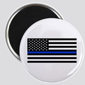 Thin Blue Line American Flag Magnets