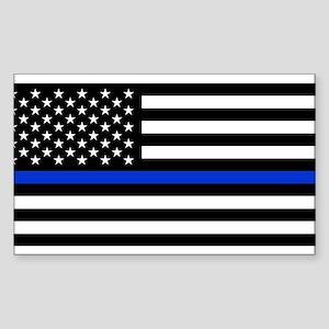 Thin Blue Line American Flag Sticker