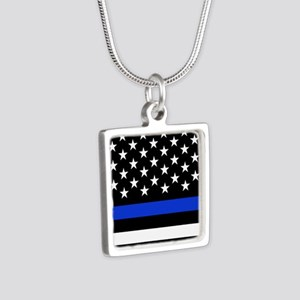 Thin Blue Line American Flag Necklaces