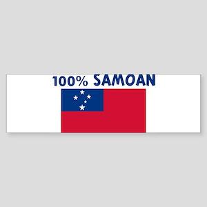 100 PERCENT SAMOAN Bumper Sticker