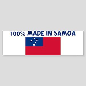 100 PERCENT MADE IN SAMOA Bumper Sticker