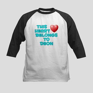 This Heart: Deon (E) Kids Baseball Jersey