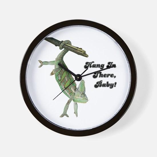 Funny Chameleon Wall Clock
