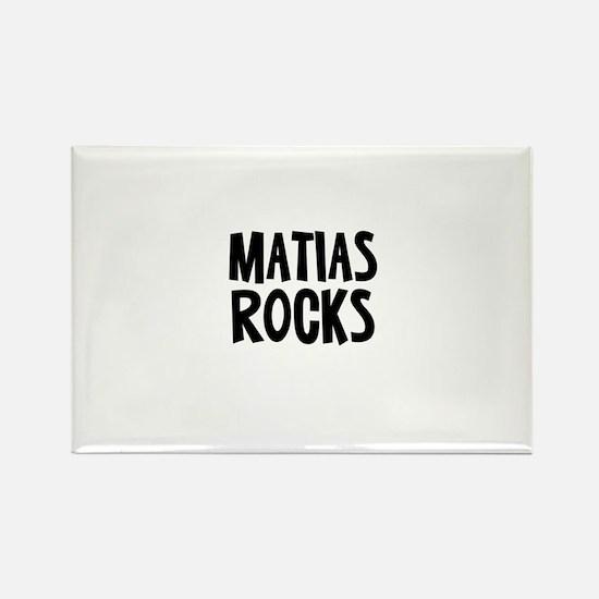 Matias Rocks Rectangle Magnet