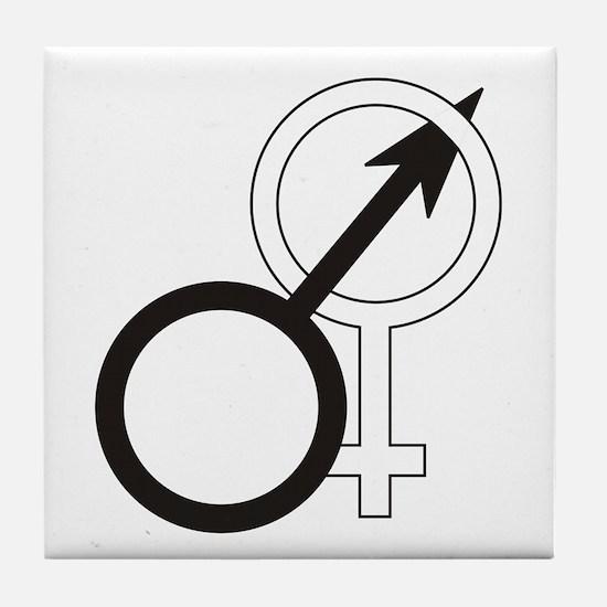 Joined Male & Female Symbol Tile Coaster