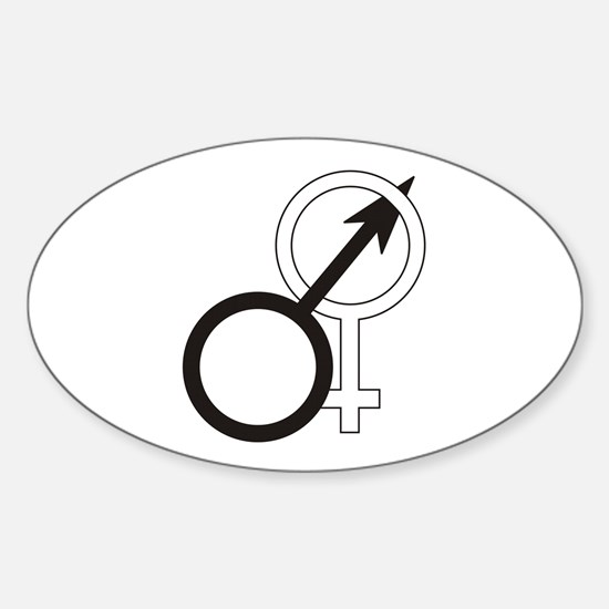 Joined Male & Female Symbol Oval Decal