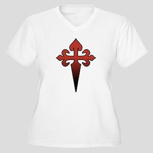 Dagger and Cross Women's Plus Size V-Neck T-Shirt