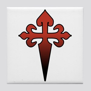 Dagger and Cross Tile Coaster