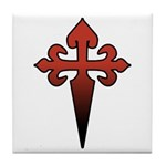 Dagger and Cross Tile Coaster
