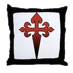 Dagger and Cross Throw Pillow