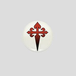Dagger and Cross Mini Button