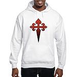 Dagger and Cross Hooded Sweatshirt
