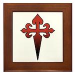 Dagger and Cross Framed Tile