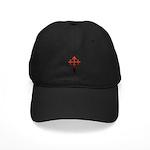 Dagger and Cross Black Cap