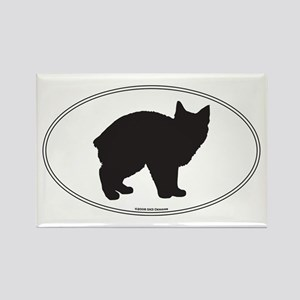 Manx Silhouette Rectangle Magnet