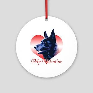 Black Shep Valentine Ornament (Round)