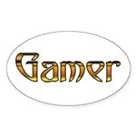 Gamer (Gold) Oval Sticker