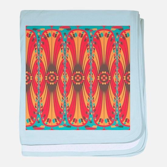 Geometric extravaganza baby blanket
