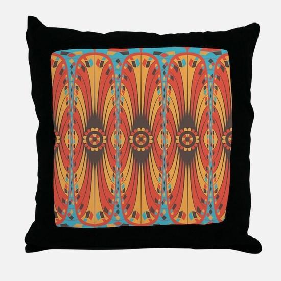 Geometric extravaganza Throw Pillow
