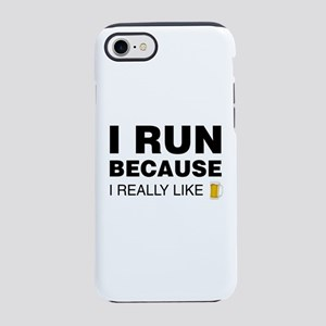 I Run For Beer iPhone 8/7 Tough Case