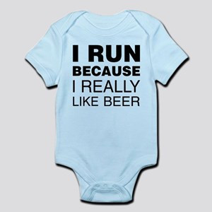 I Run For Beer Body Suit