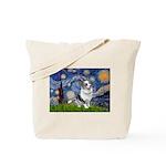 Starry Welsh Corgi (Bl.M) Tote Bag