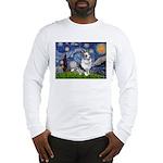 Starry Welsh Corgi (Bl.M) Long Sleeve T-Shirt