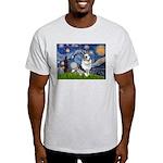 Starry Welsh Corgi (Bl.M) Light T-Shirt