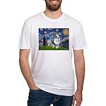 Starry Welsh Corgi (Bl.M) Fitted T-Shirt