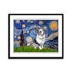 Starry Welsh Corgi (Bl.M) Framed Panel Print